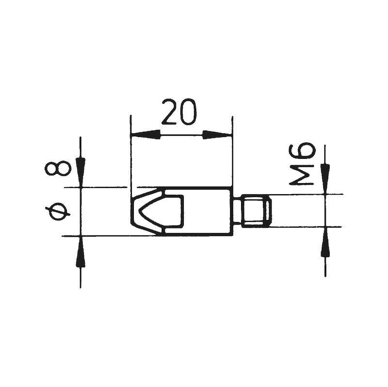 Końcówka prądowa MB 25 AK - TIP-CNTCT-MB25-ALUWIRE-1,0MM