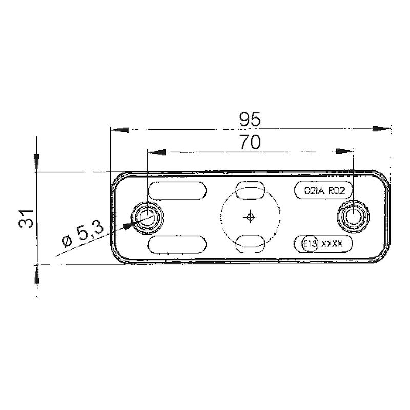 LED-Umriss-/Begrenzungsleuchte Pro 24 V - 2