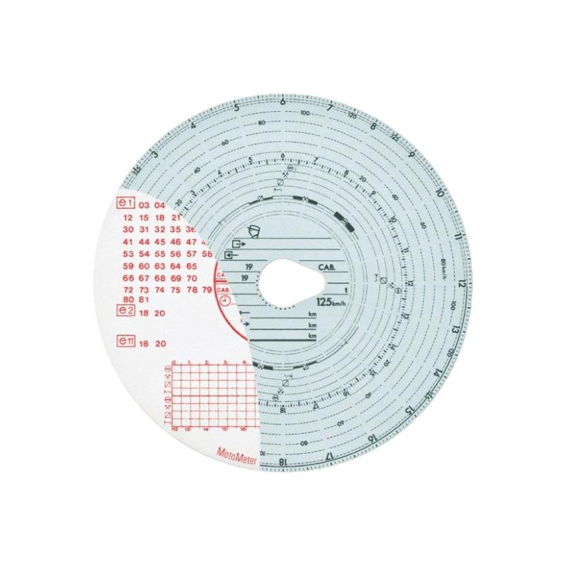 Diagrammscheibe für EG-Fahrtschreiber