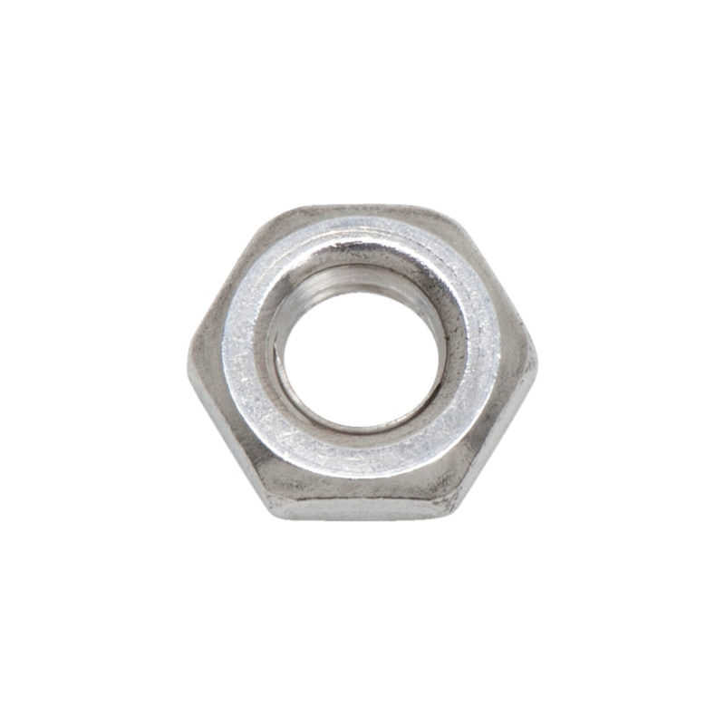 Hexagonal nut, low profile - NUT-HEX-DIN439-B-A2-WS6-M3,5