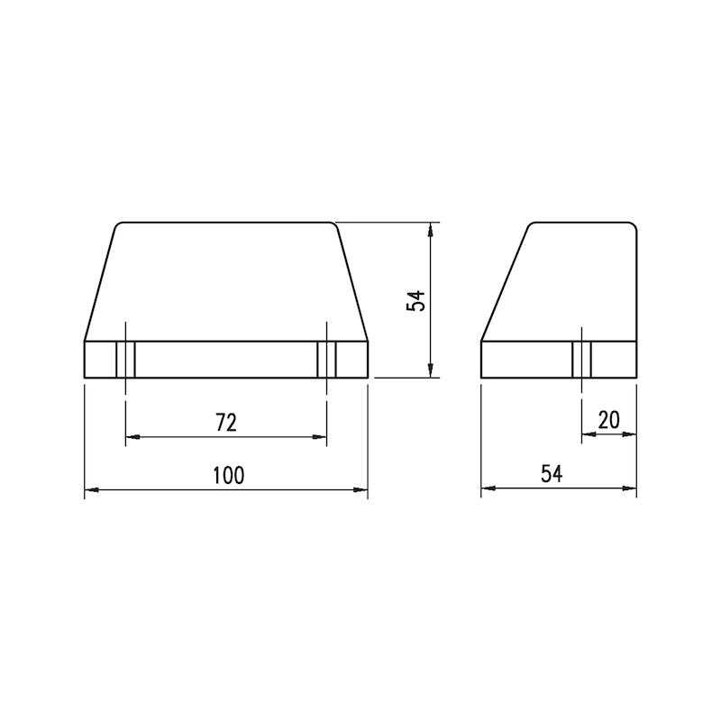 Luce di posizione posteriore/targa 12/24 V - 2