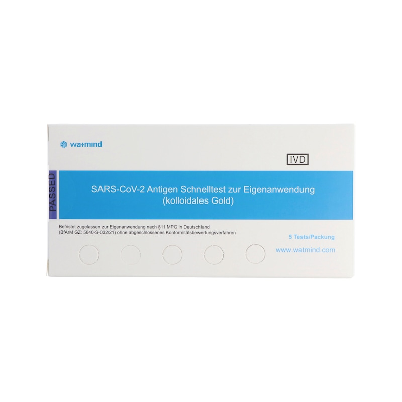 COVID-19 Antigen Watmind Speichel Test - 1