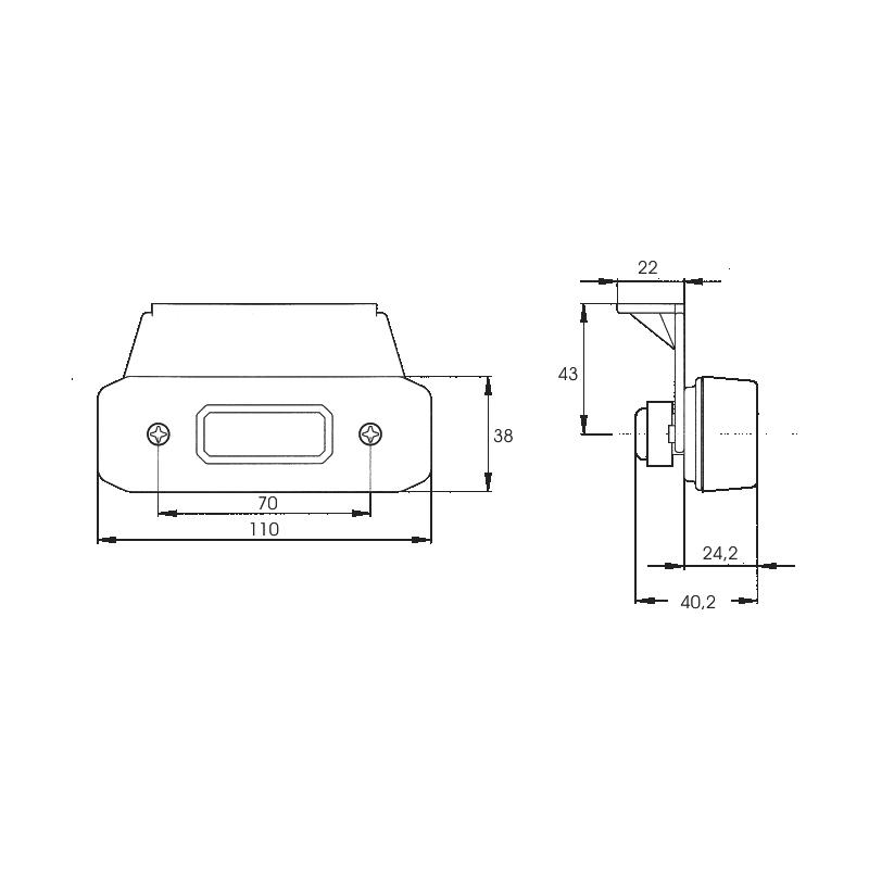 LED-Seitenmarkierungsleuchte 24 V - 2