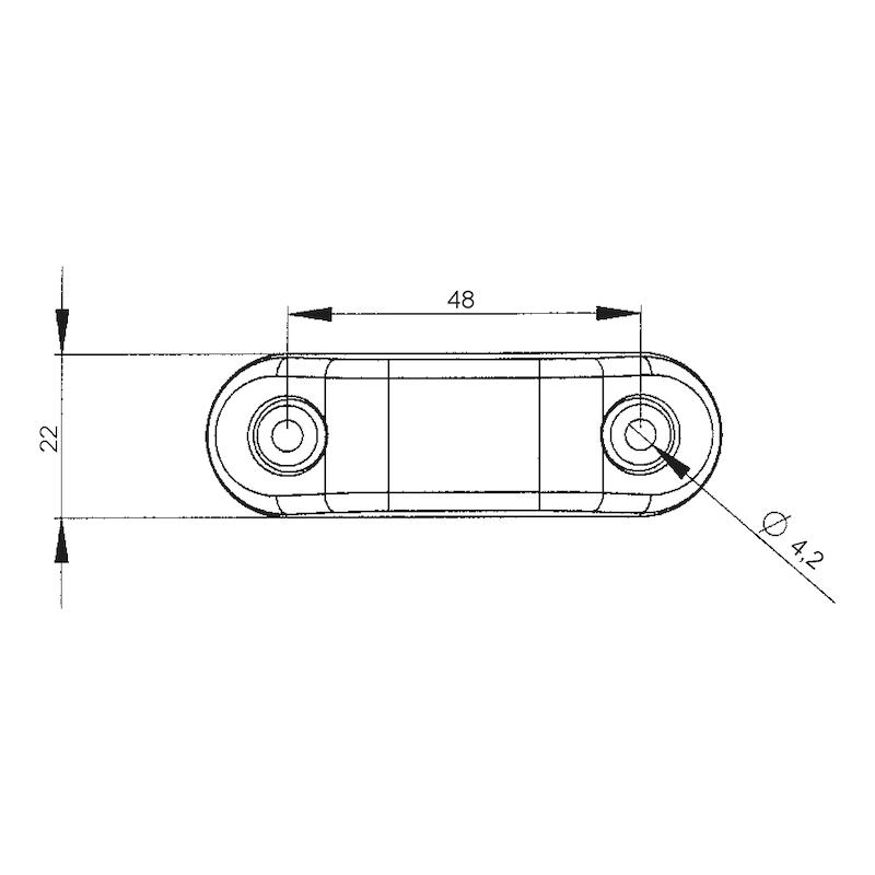 LED-Umriss-/Schlussleuchte MINI 24 V - 2