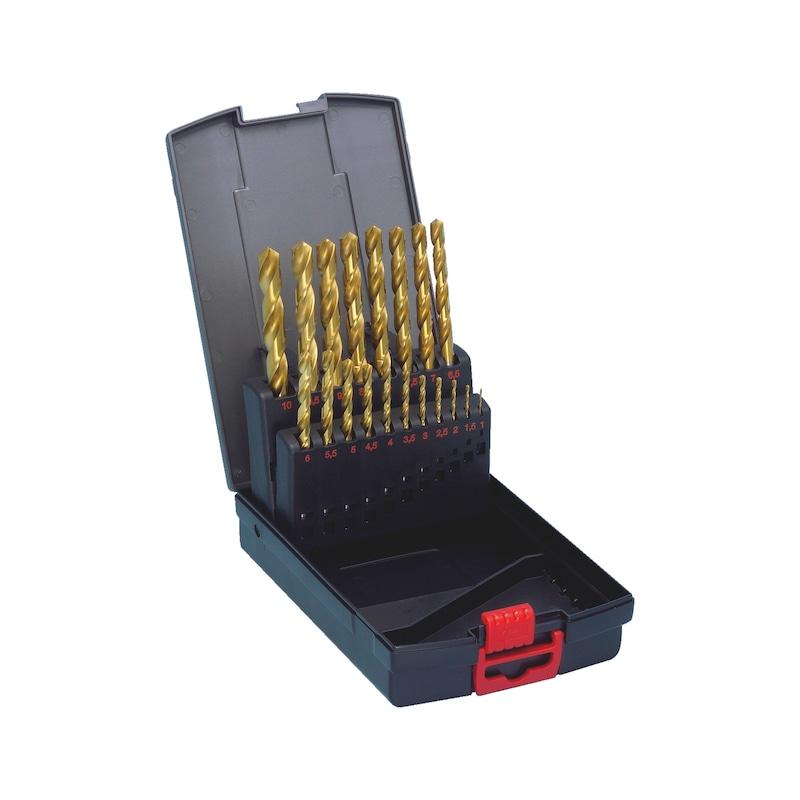 ツイストドリル金属アソートメント / セット、その他 - チタンコートドリルセット 19PCS