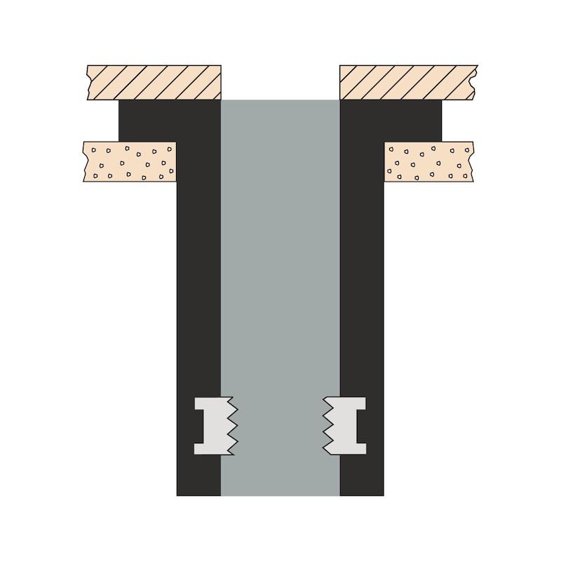 リベットナット、丸なべ頭 - ウェルナット M5