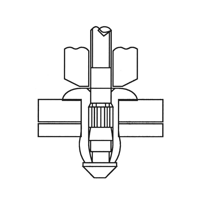 Blindklinknagel hoogvast platkop - 3