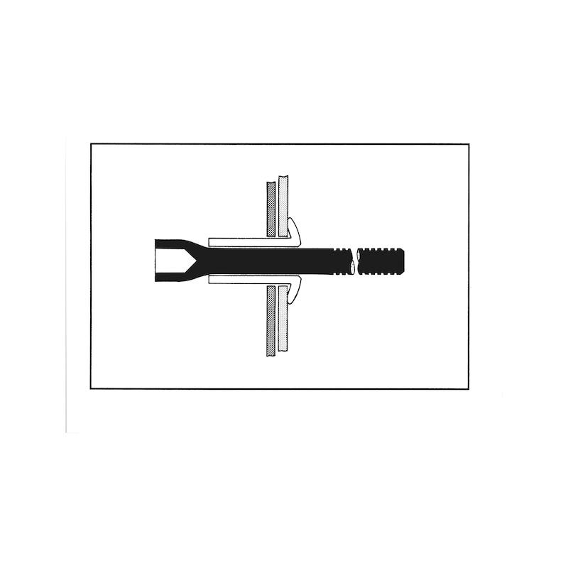 Hochfester MBT-Blindbolzen Flachkopf - 3