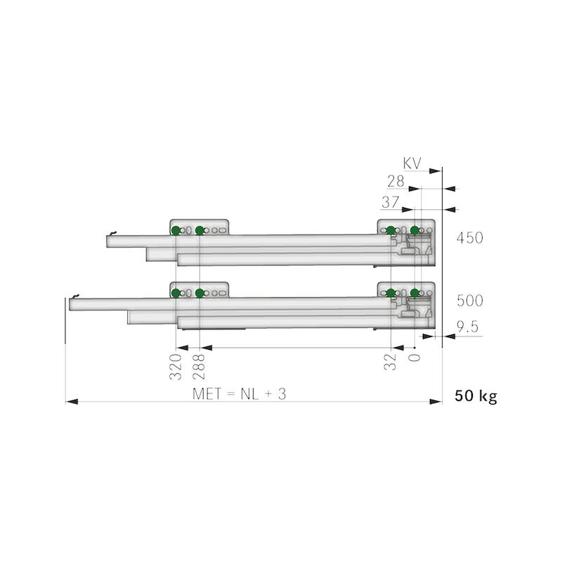 Nova Pro Überauszug Soft-close - 3