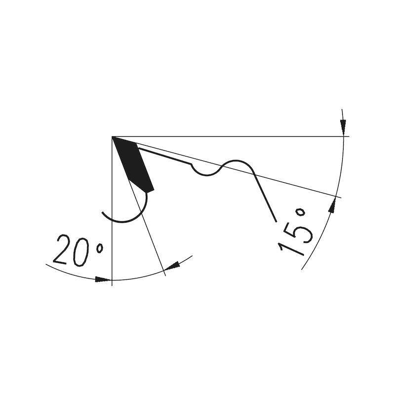 Zuschnittkreissägeblatt - KRSAEBLA-ZUSCHNITT-HM-WZ-400X36X30