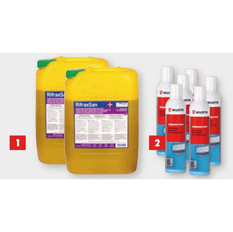 KIt 2 con disinfettante Rifraxsan più Germodis