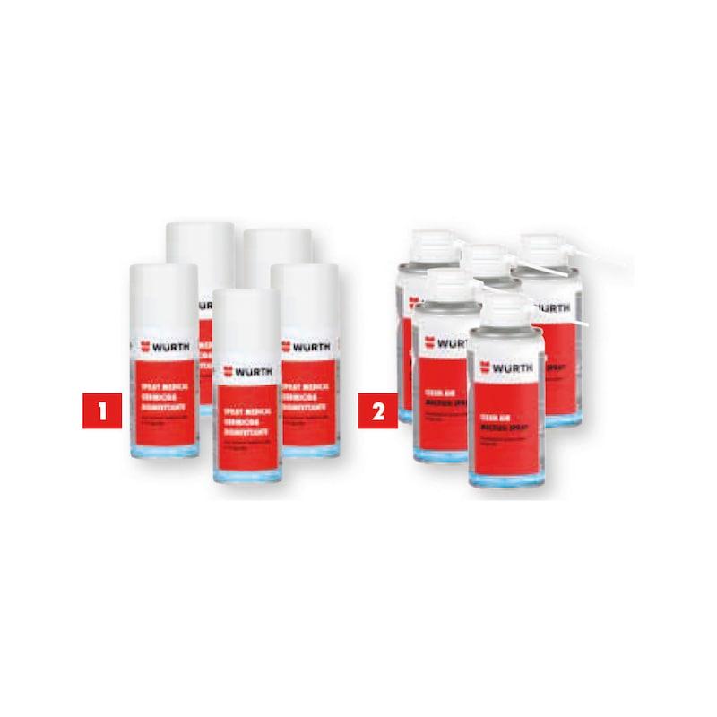Kit 3 con Clean air più germicida disinfettante