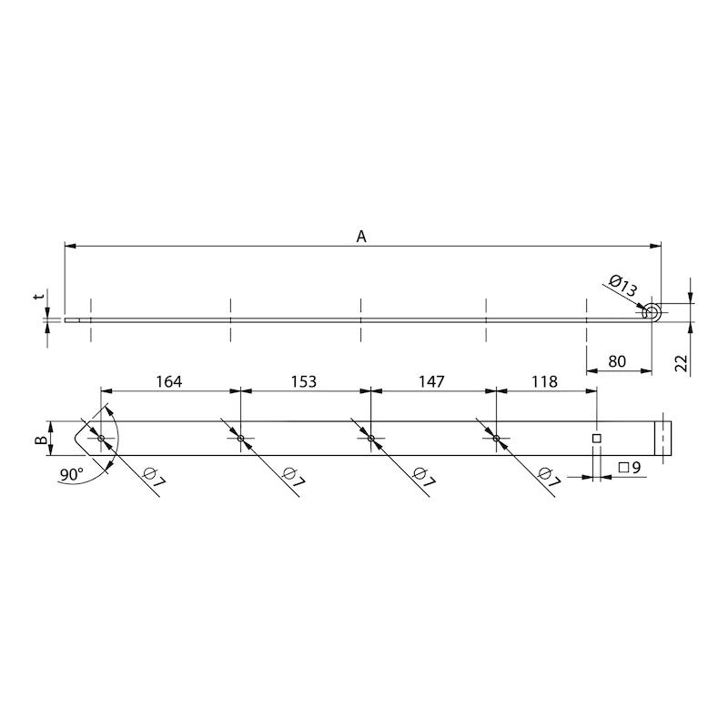 Ladenband  - LABA-ST-(ZN)-BLAU-D16MM-800X45MM