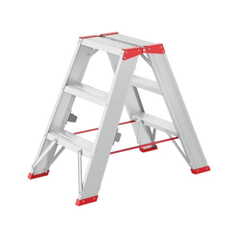 Aluminium step ladder Riveted - STEPLDR-ALU-2X3STEP