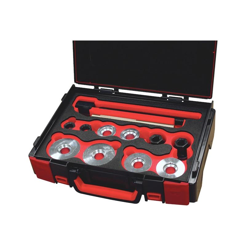 Universal removal tool set f. wheel bearing 15 pcs - 1