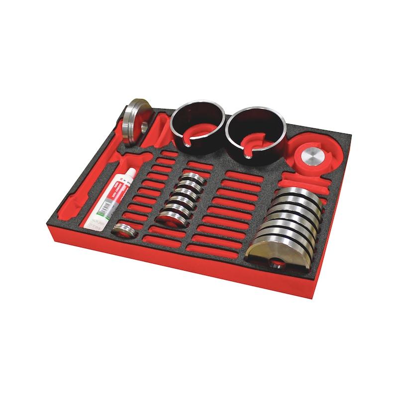 Wheel bearing tool set basic XXL 18 pcs - 1