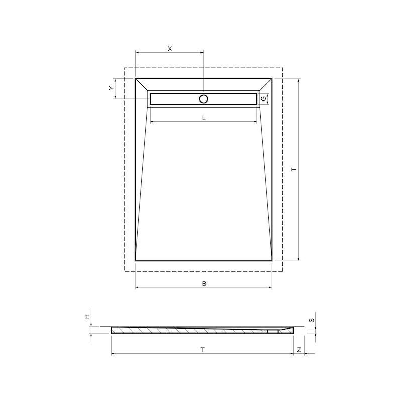 Duschboard Line - 2