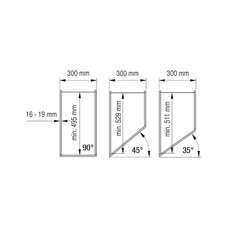 Tiroir à coulisse diagonal VS SUB SIDE - 2