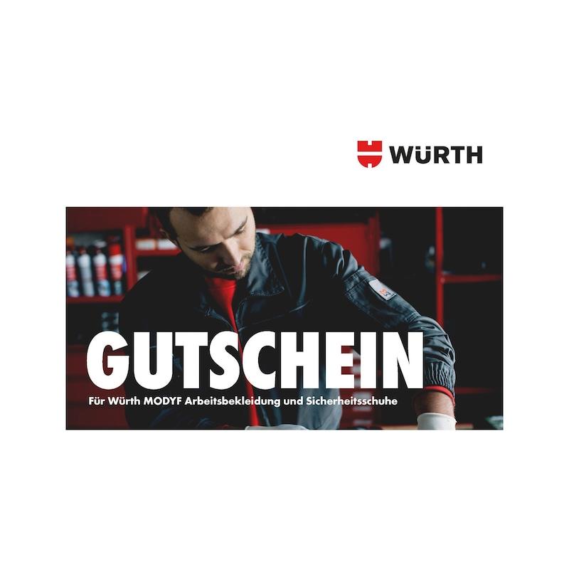 Würth Modyf Gutschein für Arbeitsbekleidung & Sicherheitsschuhe - GUTSCHEIN ARBEITSBEKLEIDUNG 44,00 EUR