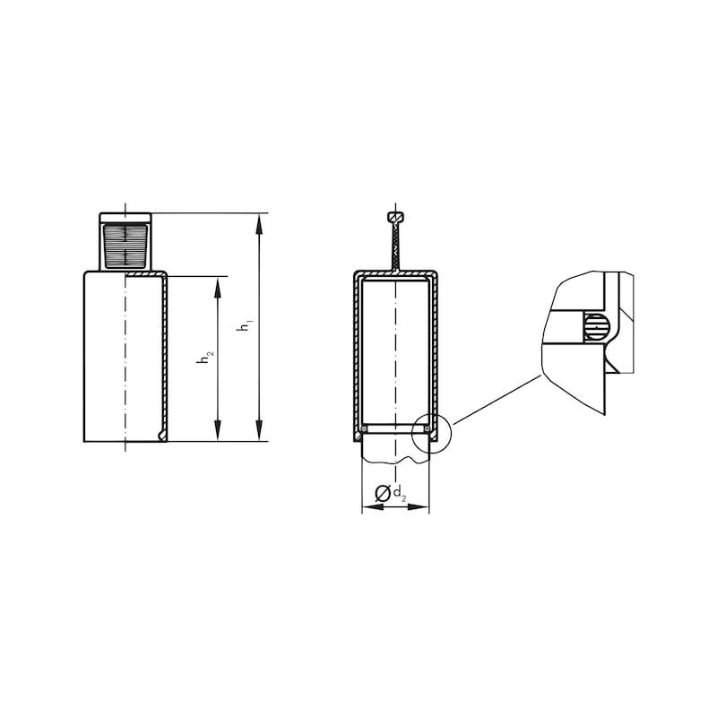 Griffkappen GPN 210 - ENDKA-GPN210-ZL-11X20-GELB