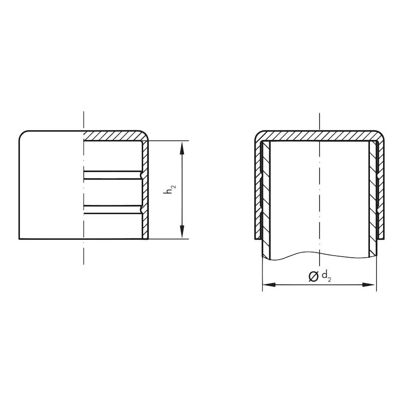 Rohrschutzkappen GPN 250 - SHTZKA-GPN250/ 73-GELB
