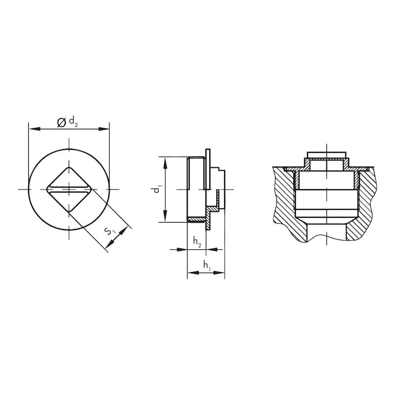 Schraubstopfen GPN 710, für metrische Gewinde - 2