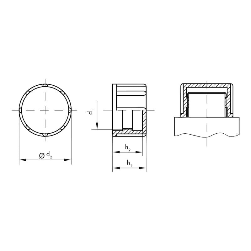Schraubkappen GPN 800, für metrische Gewinde - 2