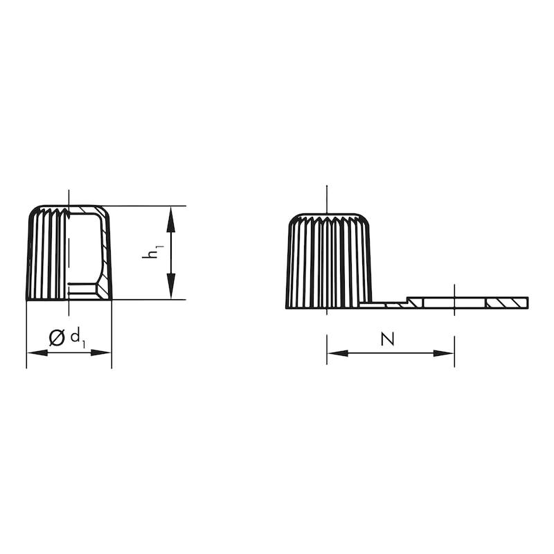 Schmiernippelkappen GPN 980 B - 2