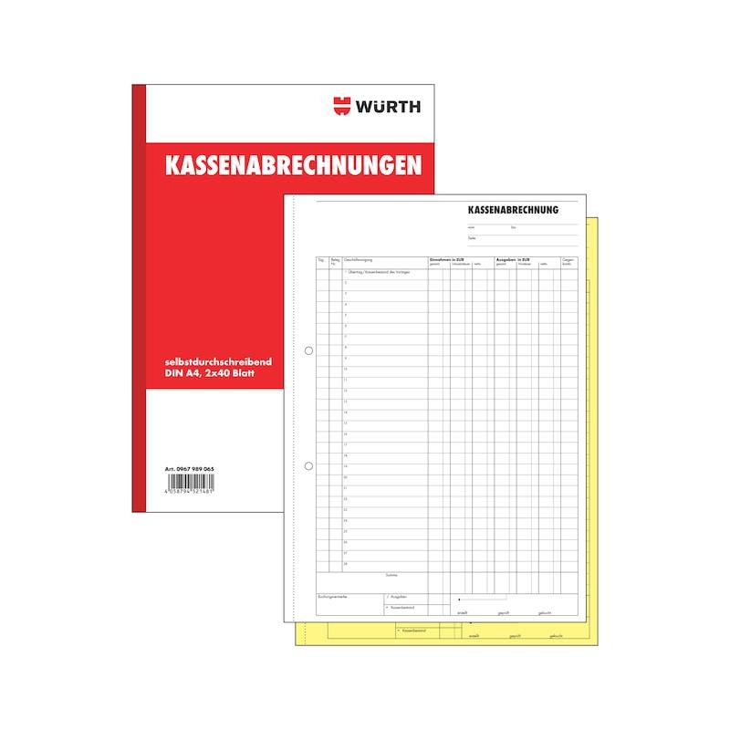 Kassenabrechnung - 1