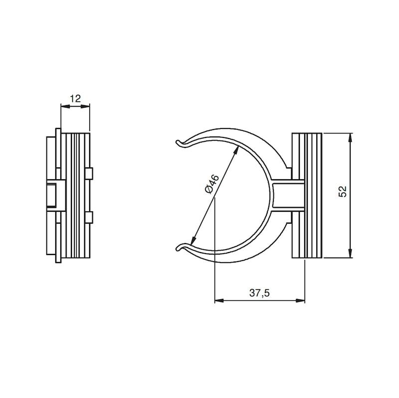 Sockelblenden-Klammerhalterung - 3