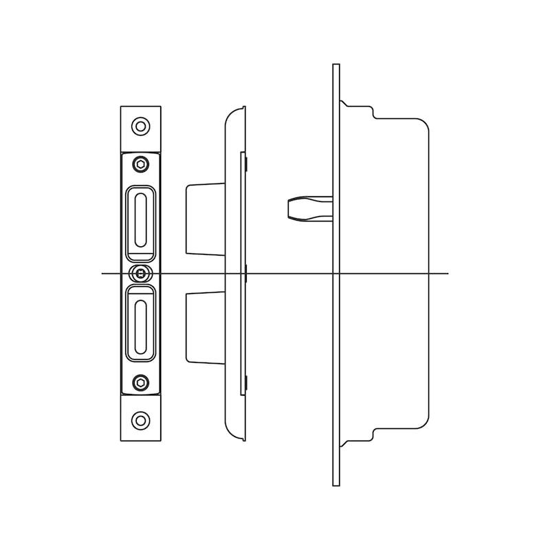Schließstück - ZB-KOMBI-SHLSTUECK-SILBR-4-10-ACHS