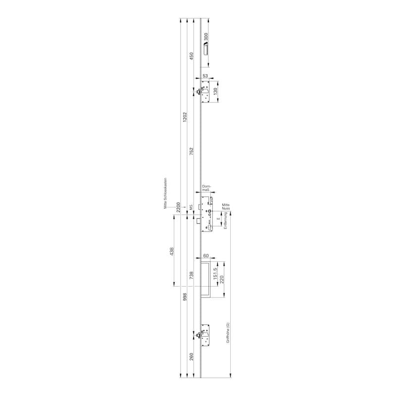 Elektronische Mehrfachverriegelung Eneo A - 6