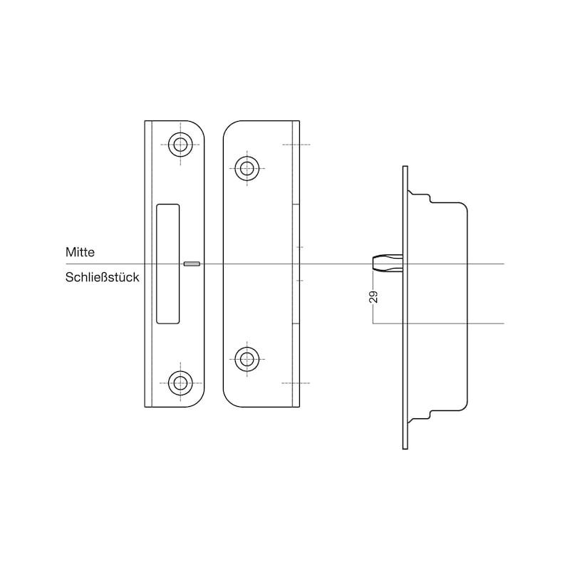 Schließstück  - ZB-BLZSHLBLECH-TRSHLO-SILB-4-10-ACHSE