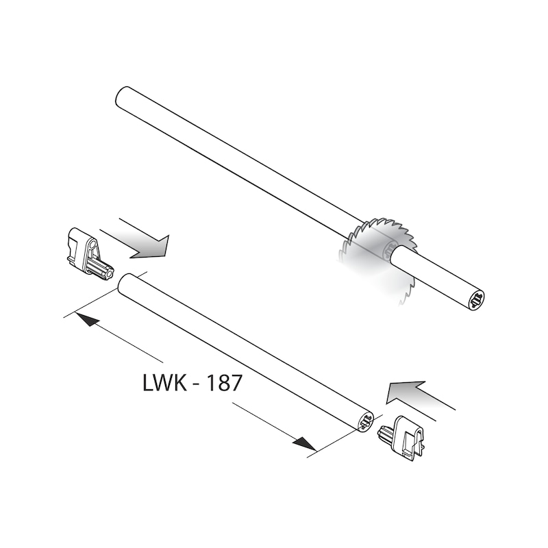 Underfloor guide full extension Dynapro Tipmatic 40 kg - 9