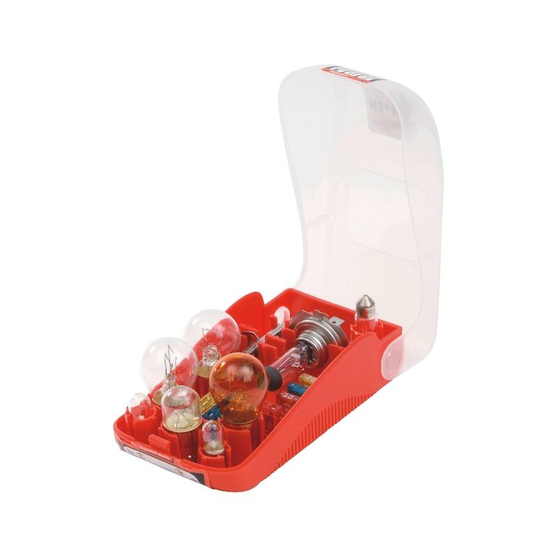 Ampoule pour véhicule Boîte d'ampoules de rechange assorties - COFFRET LAMPES DE SECOURS 12V H1/H7
