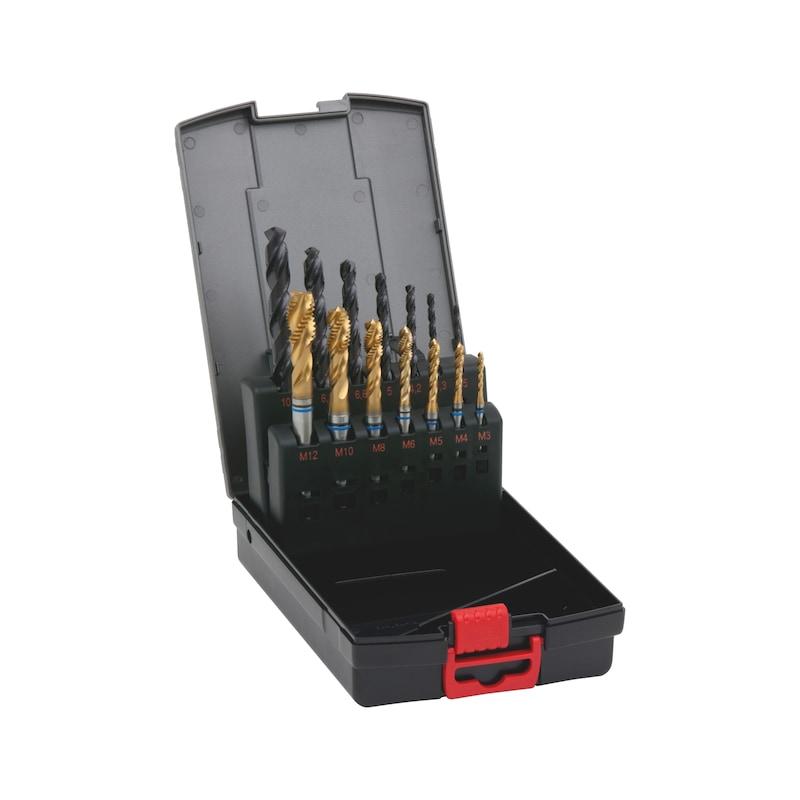 Maschinengewindebohrer Sortiment Longlife Stahl Grundloch M3-M12 - 1