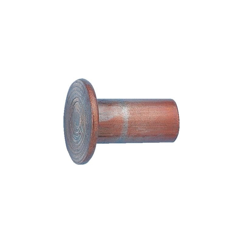 Rivetto per dischi di freni e frizioni  - RIBATTINO-DIN7338-RAME-B-6X15
