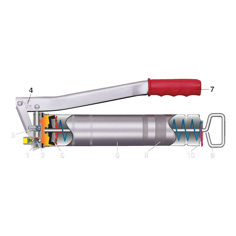 Hand-lever grease gun - 2