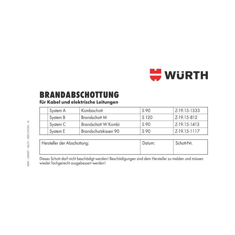 Kennzeichnungsschild Brandabschottung - KENNZSHLD-KBL