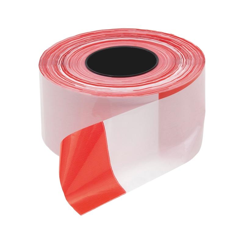 Warning tape - WARNTPE-RED/WHITE-W80MMXL500M