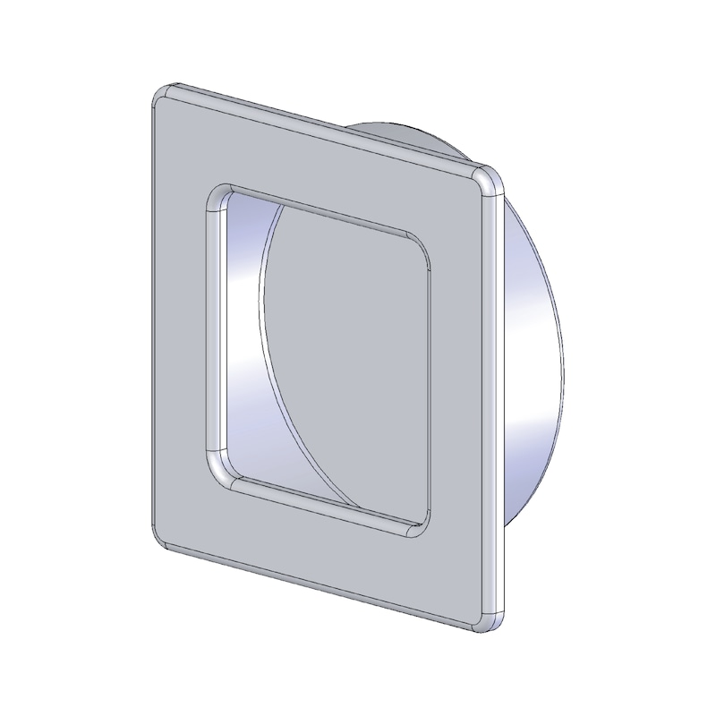 Square shell design handle - HNDL-ZD-SHELL-(CR)-POLIERT-ECKIG-D45MM