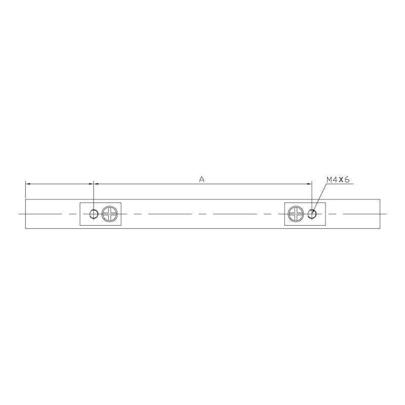 Design-Möbelgriff - GRF-ALU-BGL-FLACH-SILBER-128MM