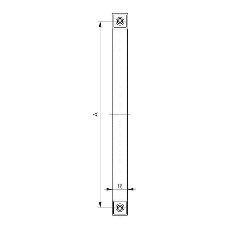 Design-Möbelgriff - GRF-ALU-ZD-(CR)-POLIERT-224MM