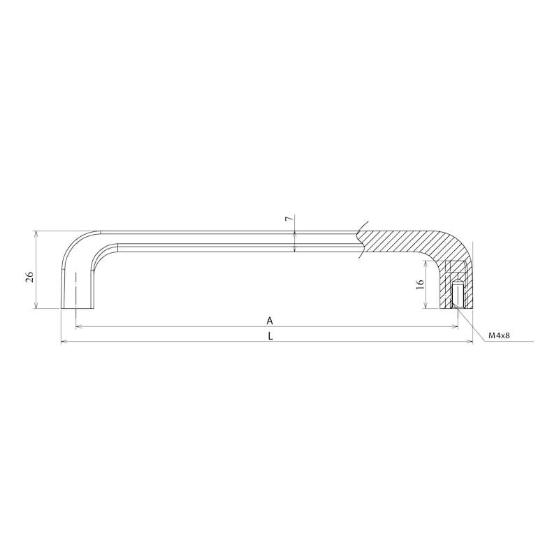 Design-Möbelgriff - GRF-ZD-BUEGEL-RUND-(CR)-MATT-128MM