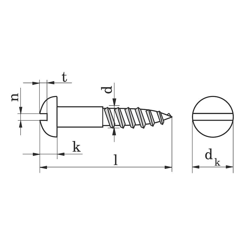 Holzschraube Halbrundkopf mit Schlitz - 1