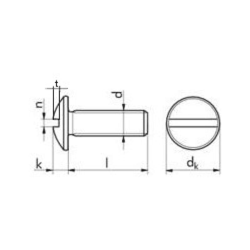 Flachrundschraube mit Schlitz - SHR-FLRDKPF-A2-SZ-M8X16
