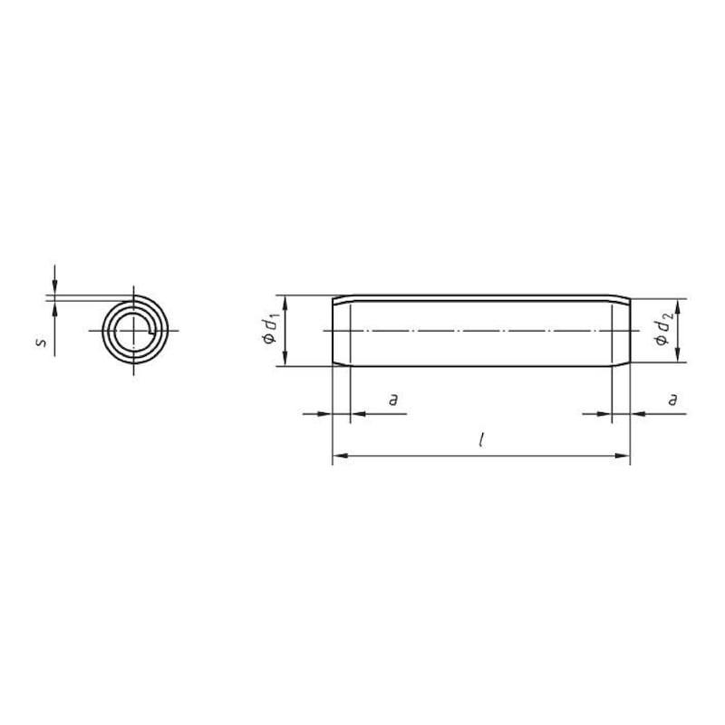 Spiralspannstift, Regelausführung - SPNSTI-ISO8750-A2-5X20