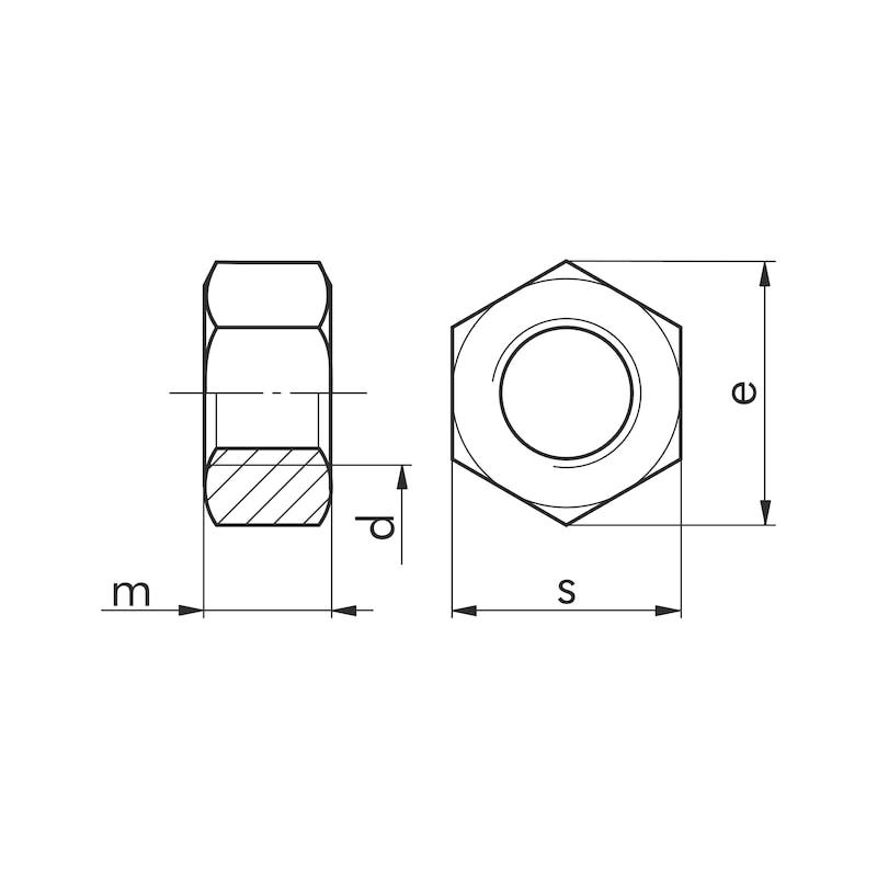 Sechskantmutter - MU-6KT-DIN934-A4/70-SW11-M7