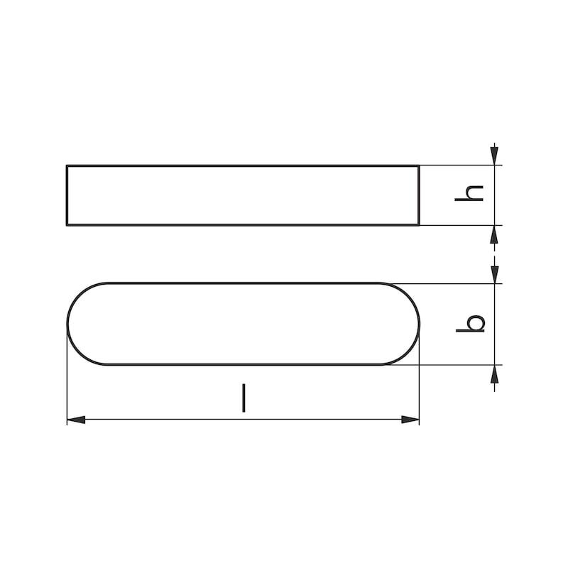 Passfeder Hohe Form - PASSFED-DIN6885-C45C-A-5X5X63