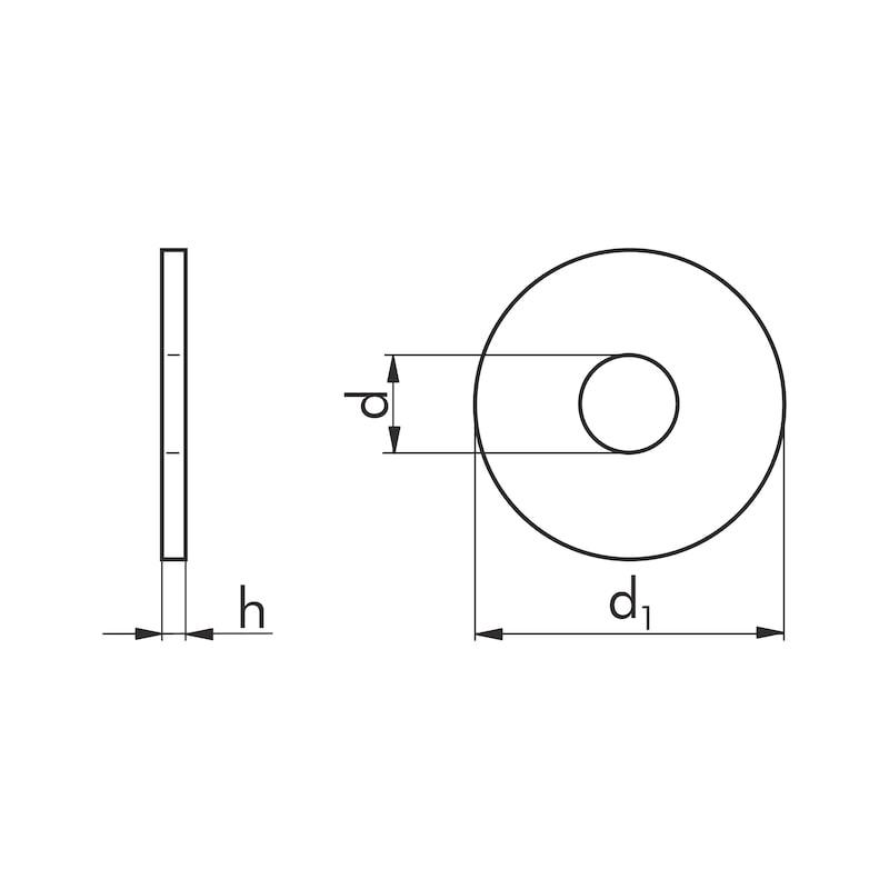 Kotflügelscheibe - SHB-KOTFLG-TOLDIN522-(A2K)-6,4X30X1,5